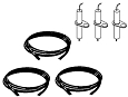 Vermont Castings Gas Grill Repair Kit Replacement Grill Ignitor Wire and Electrode, 3 Pack