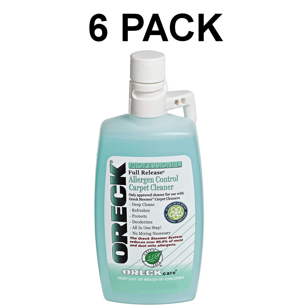 Oreck Carpet Cleaning And Hard Floor Cleaner Shampoo 6 Pack