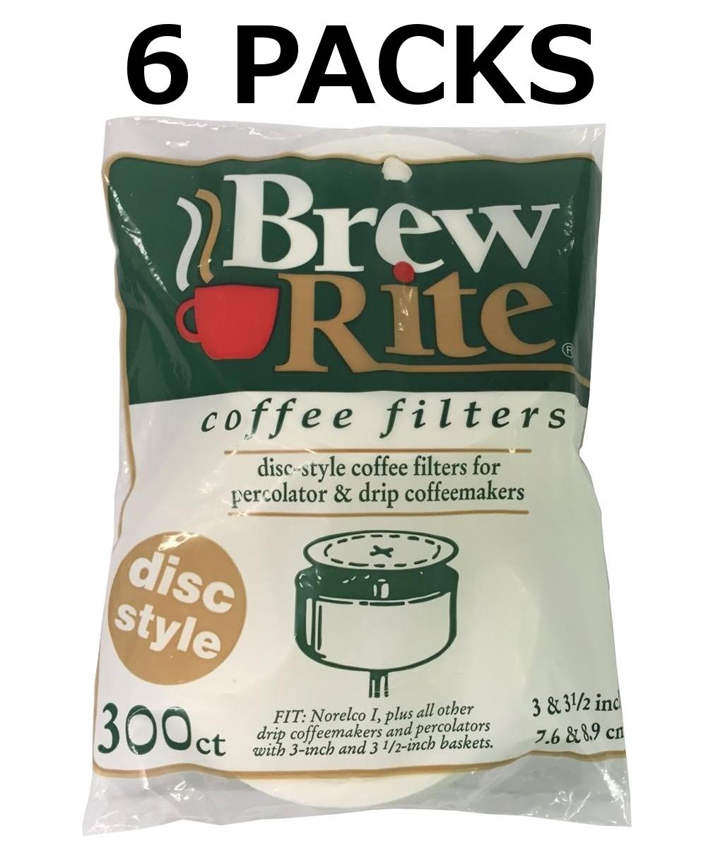 Brew Rite Coffee Filters Flat Disc Paper 3 5 Inch 300