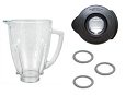 Oster Osterizer Round Blender Jar, Black Cover, & 3 Gaskets