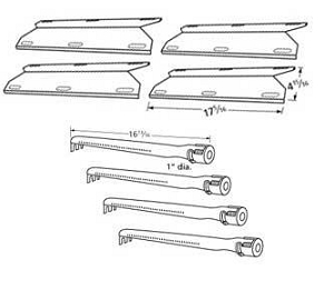 Charmglow Home Depot 720 0304 Grill 4 Burners And Heat Plates