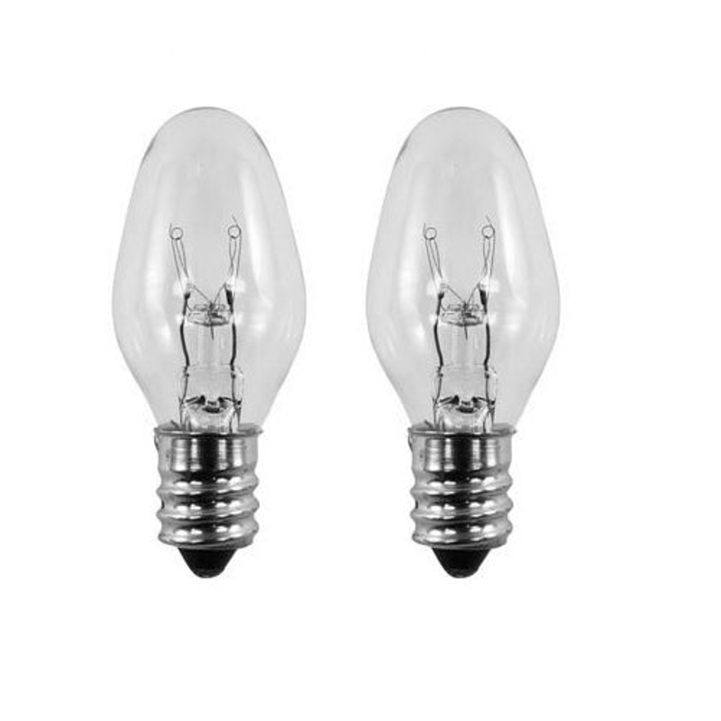2 Pack Bulbs For Scentsy Plug In Nightlight Warmer Wax