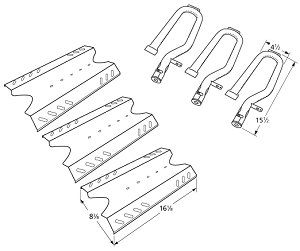 Nexgrill 720 0670c 4 Pack Gas Grill Replacement Grill Burner Stainless p 21283 as well GE Bake Element Replaces WB44K10005 Oven Heating Element WB44K10001 p 19610 as well B000PJ6XGQ in addition Troy Bilt Weed Eater Drive Shaft Housing Upper Assembly 791 182316 p 20799 additionally 1503500. on kitchenaid replacement parts mixer