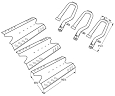 BBQ Pro BQ05041-28, BQ51009 Gas Grill Repair Kit Replacement Cooking Grill Burners and Heat Plates at Sears.com