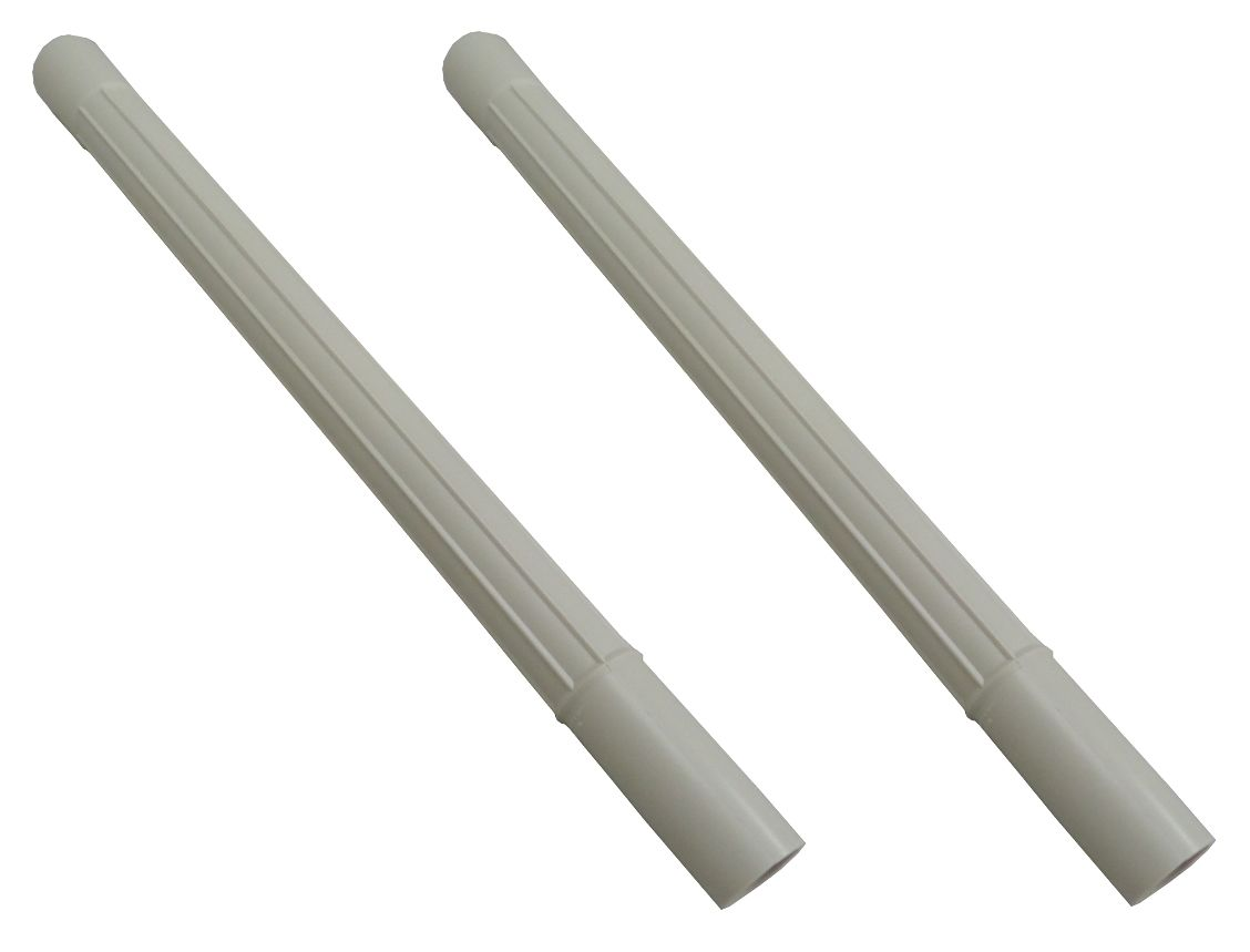 vacuum attachment white plastic wand pipe hose tool extension id 2 pack. Black Bedroom Furniture Sets. Home Design Ideas