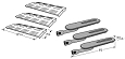 Charbroil Gas Grill Repair Kit Replacement Grill Burner and Heat Plate P02001004E, P02001032E, P01705005E, 3 Pack at Sears.com