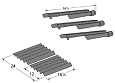 Brinkmann 2400 Series Gas Grill Repair Kit Replacement Grill Burners and Heat Plates