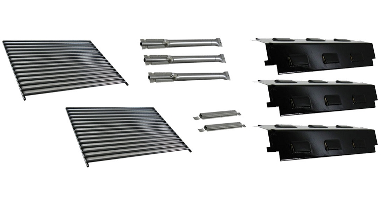 home u003e grill parts u003e charbroil u003e other charbroil grill parts u003e char broil 3 burner grill burners heat plates grates tubes - Char Broil Gas Grill Parts