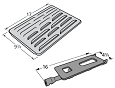 Bakers and Chefs Grill 608SB Grill Repair Kit Grill Heat Plate, Burner