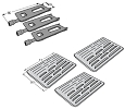 Bakers and Chefs Grill Heat Plate & Burner 3 Pack 9905TB, 9912T, 9803S