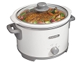 Proctor Silex 4 Quart Crock Pot Oval White Slow Cooker 33042