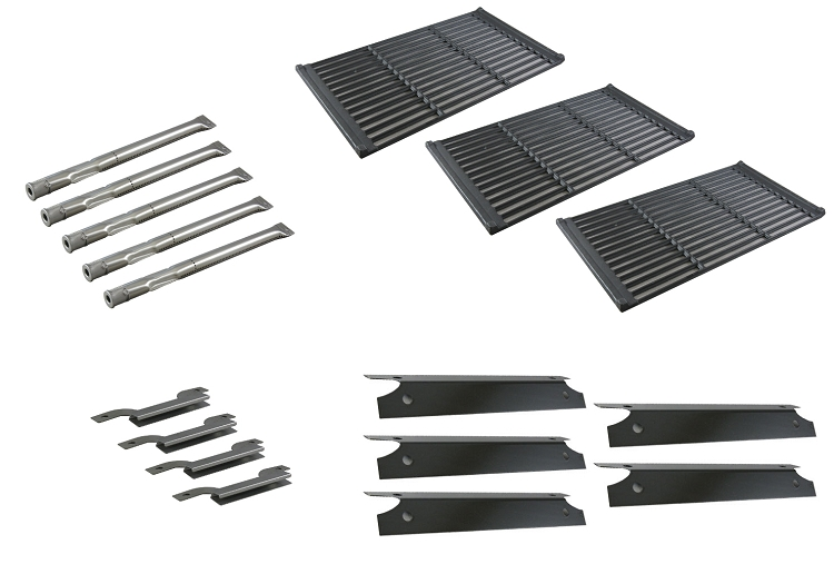 Brinkmann Pro Series 1575 5 Burner 810-1575-W Barbecue Gas Grill Replacement Burners, Heat Plates, Cooking Grid Set at Sears.com