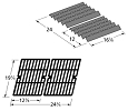 Brinkmann 2400 Pro Series Grill Repair Kit Replacement Grill Heat Plate and Cooking Grid Grate