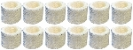 Holmes H62, HC-25 Replacement Wick Humidifier Filter, 12 Pack