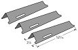 BBQ Grillware Gas Grill Porcelain Steel Heat Shield 92611, 3 Pack