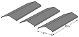 Coleman Gas Grill Replacement Porcelain Coated Steel 93031, 3 Pack