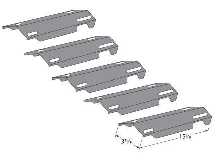 Kenmore P01714004e Gas Bbq Grill Heat Shield Plate