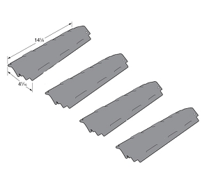 Charbroil Gas Barbecue Grill Heat Tent Porcelain Steel Heat Plate Replaces 80008074, G433-0016-W1, 4 Pack at Sears.com