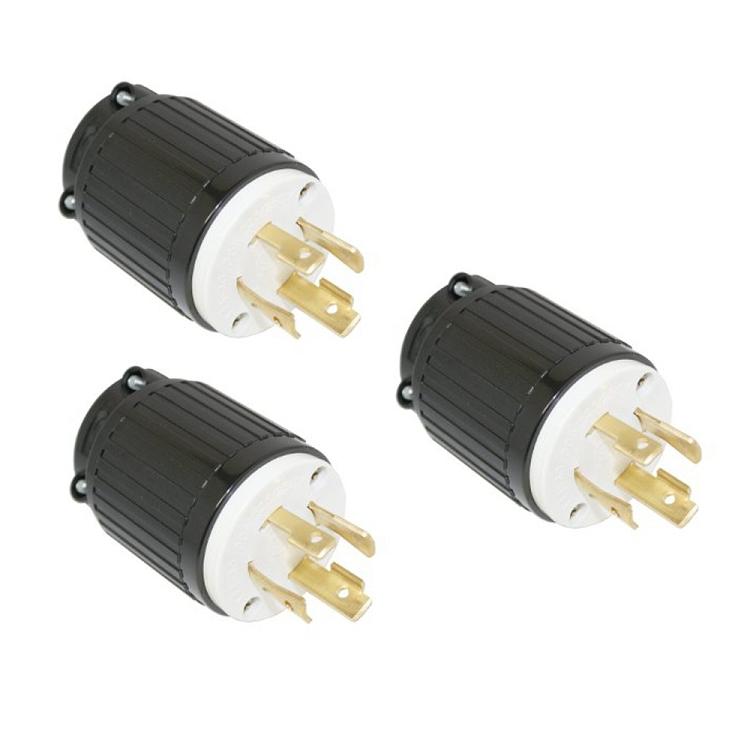 3 Pk 30 Amps 125  250v Nema Twist Lock 4 Wire Plug Yga025