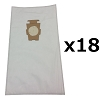 18 Bags for Kirby Sentria Vacuum F Style Cloth HEPA White