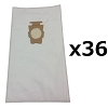 36 Bags for Kirby Sentria Vacuum F Style Cloth HEPA White