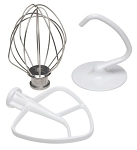 KitchenAid Mixer Flat Beater, Wire Whip, Dough Hook Kit K45WW, K45B