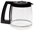 12 Cup Coffeemaker Black Coffee Replacement Glass Carafe for Cuisinart CBC-00BKPC1, CBC00BKPC1