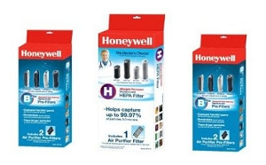 Honeywell HPA-050, HHT-055 Air Cleaner Replacement Air Purifier 1 HEPA Filter & 4 Prefilters at Sears.com