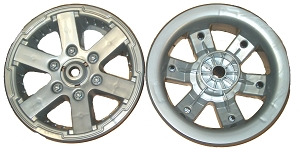 Power Wheels Jeep Hurricane Rear Wheel Rim Tire Hub Cap 3800 8224