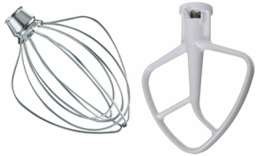 Kitchenaid Mixer Replacement Flat Beater And Wire Whip Kit