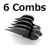6 Wahl Guide Comb Attachments 1 1/2 in