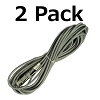 30' Gray Fit All Upright Vacuum Cleaner Power Cord Eureka Bissell Shark Dyson (2-Pack)