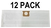 12 Shop Vac Filter Bags 906-61-00 Disposable