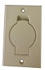 Central Vacuum Wall Inlet Round Door, Ivory for Beam Nutone