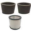 Filter Cartridge for Shop Vac 9030400 90304 903-04-00 + 2 Foam 905-85