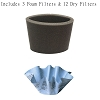 Filters for Shop-Vac 901-07-62 Paper Disc Filter- 12 Paper Disc Filter + 3 Foam