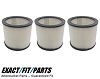 3 Filter Cartridge for Shop Vac 9030400 Wet Dry 903-04-00 H12
