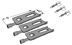 Members Mark Grill Parts Repair Kit Replacement Burners