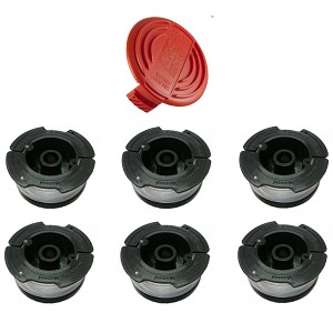 Cap And 6 Spools For Black And Decker Hog Rc 100 P String
