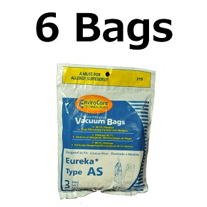Eureka As Style Vacuum Bags By Envirocare Fits Air Sd 6 Pack