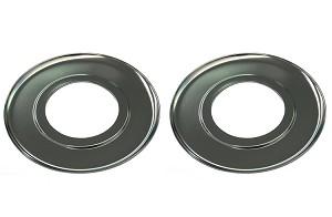 2 Chrome Gas Range Burner Drip Pans 7 1 2 Quot For Roper 310385
