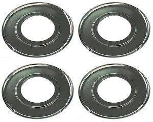 4 Universal Chrome 7 5 Quot Round Drip Pans For Gas Stove