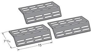grand hall gas grill porcelain steel heat shield 90161 3 pack. Black Bedroom Furniture Sets. Home Design Ideas