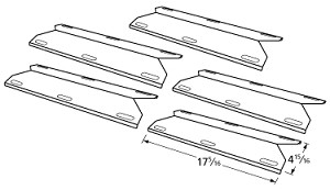Nexgrill Grill Heat Plate 720-0396 Stainless Steel Heat Shield 5 Pack