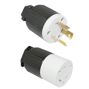 Twist Lock Electrical Plug & Receptacle for Electric Cord 30 Amps 250V