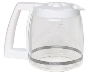 Cuisinart DCC-1200W Coffee Maker 12 Cup Carafe Glass White DCC1200W