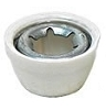 Power Wheels White Wheel Retainer Cap Nut 00801-1452, 0801-0376