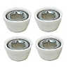 Power Wheels White Wheel Retainer Cap Nut 0801-0227 00801-1452 4 Pack