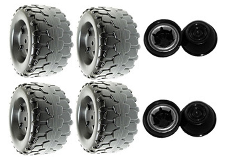 Power Wheels Jeep Wrangler Wheels Kit 4 Tires & Retainers B7659-2459