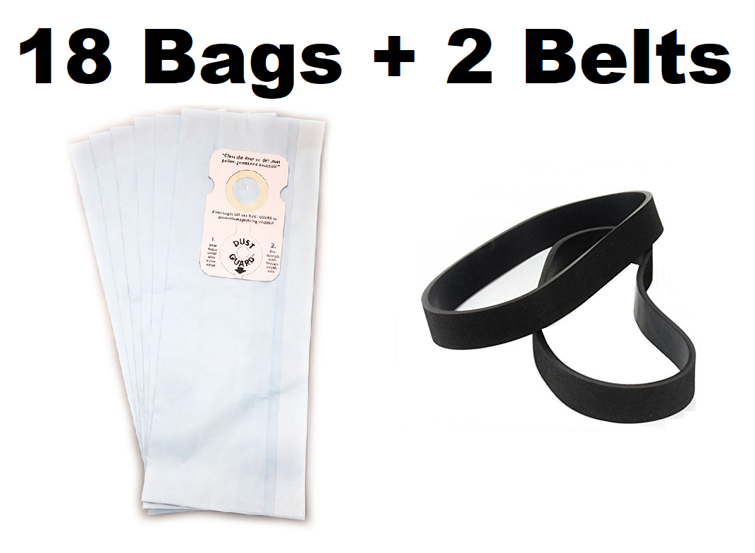 8925 8650 8920 plus 2 Belts 8850 18 Vacuum Bags for Riccar Type B 8955 8950